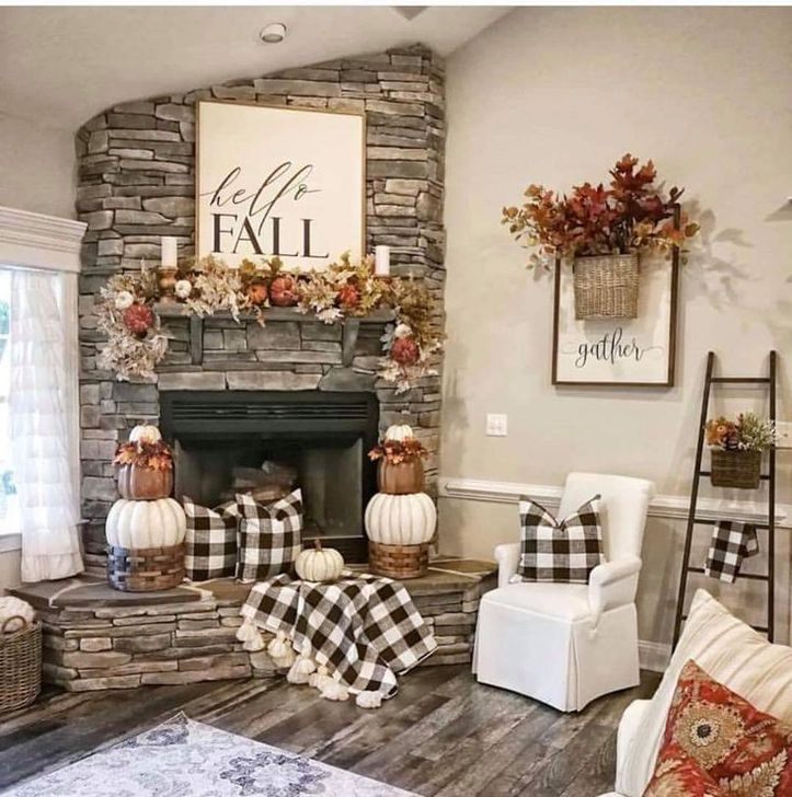 Fabulous Fall Living Room Decor Ideas To Feel Comfortable At Home 25