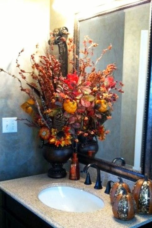 Gorgeous Fall Bathroom Decorating Ideas 08