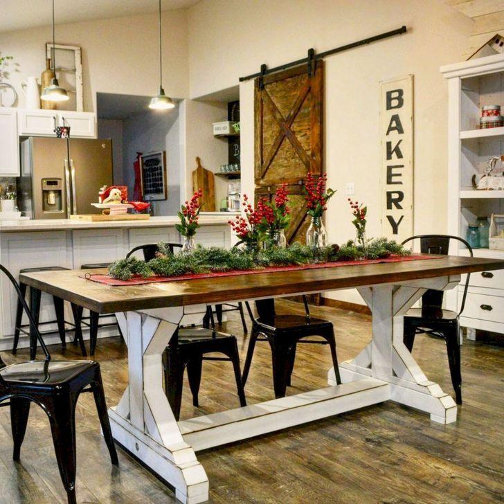 Gorgeous Rustic Dining Room Design Ideas 02