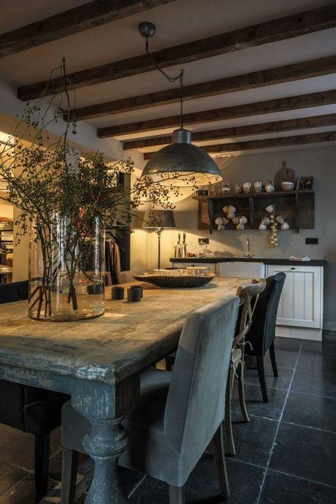 Gorgeous Rustic Dining Room Design Ideas 10