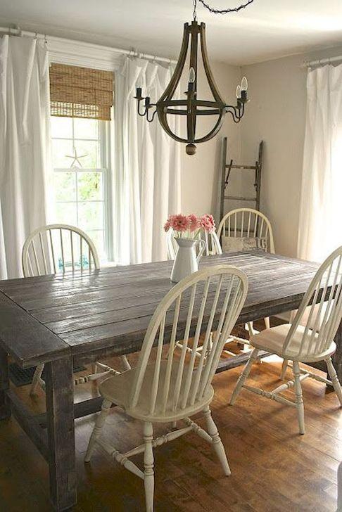 Gorgeous Rustic Dining Room Design Ideas 21