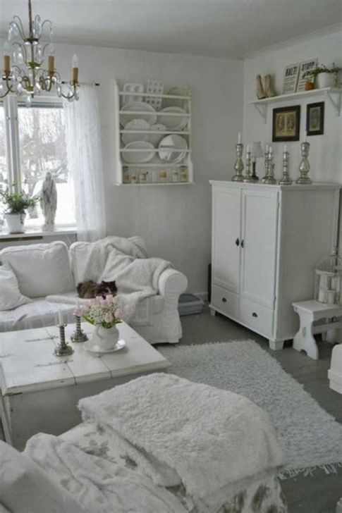 Gorgeous Shabby Chic Living Room Design And Decor Ideas 03