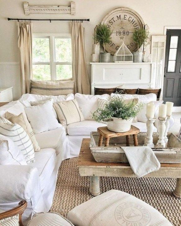 Gorgeous Shabby Chic Living Room Design And Decor Ideas 08