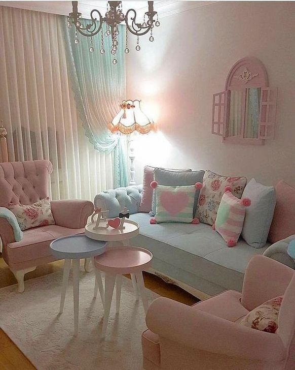 Gorgeous Shabby Chic Living Room Design And Decor Ideas 12