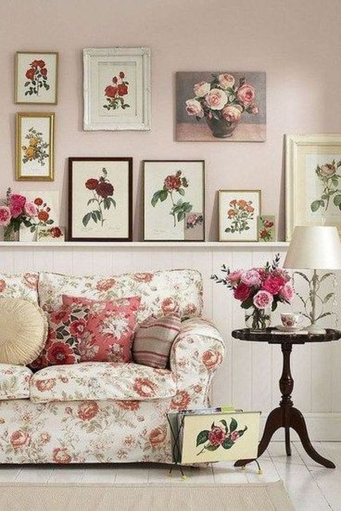 Gorgeous Shabby Chic Living Room Design And Decor Ideas 19