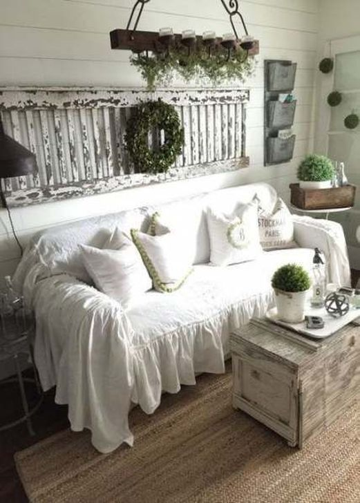 Gorgeous Shabby Chic Living Room Design And Decor Ideas 22