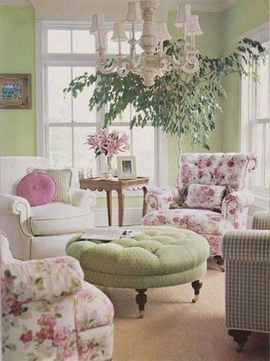 Gorgeous Shabby Chic Living Room Design And Decor Ideas 26