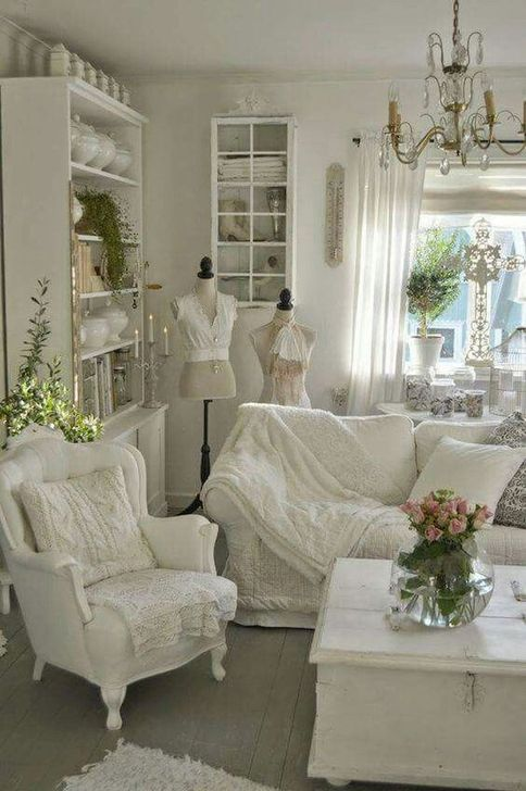 Gorgeous Shabby Chic Living Room Design And Decor Ideas 27