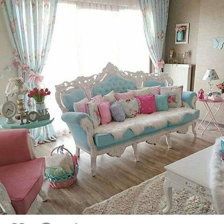 Gorgeous Shabby Chic Living Room Design And Decor Ideas 31