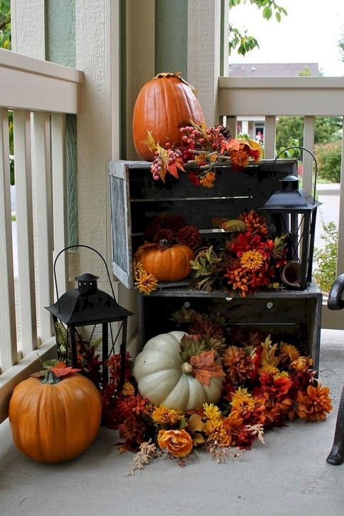 Inspiring Fall Decor Ideas For Your Home Decor 09