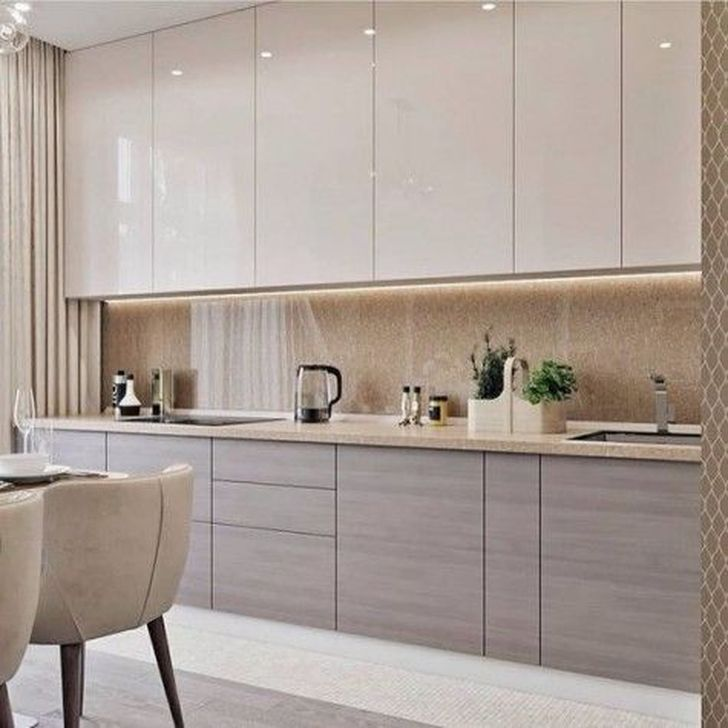 Inspiring Neutral Kitchen Design Ideas 28