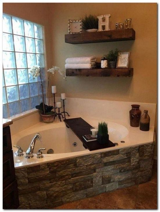 Inspiring Rustic Farmhouse Bathroom Decorating Ideas 22