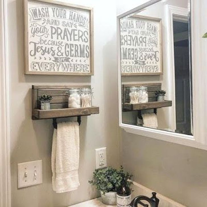 Inspiring Rustic Farmhouse Bathroom Decorating Ideas 23