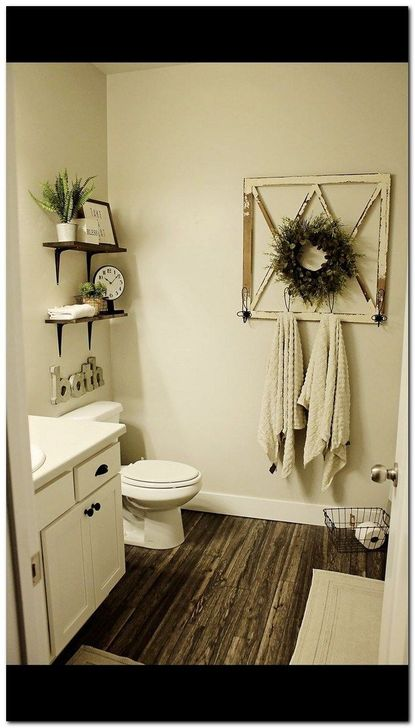 Inspiring Rustic Farmhouse Bathroom Decorating Ideas 29
