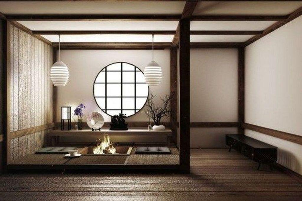 Lovely Japanese Living Room Decor Ideas 12