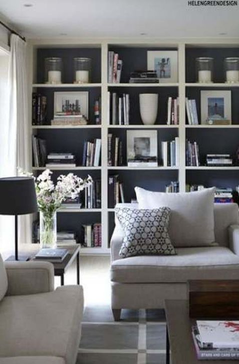 Stunning Bookshelves Design Ideas For Your Living Room Decoration 03