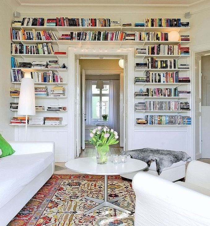 Stunning Bookshelves Design Ideas For Your Living Room Decoration 14