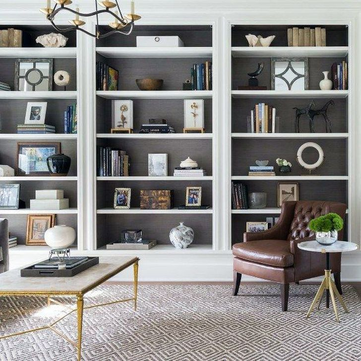Stunning Bookshelves Design Ideas For Your Living Room Decoration 15