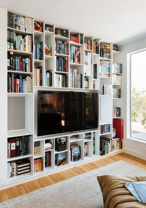 Stunning Bookshelves Design Ideas For Your Living Room Decoration 20