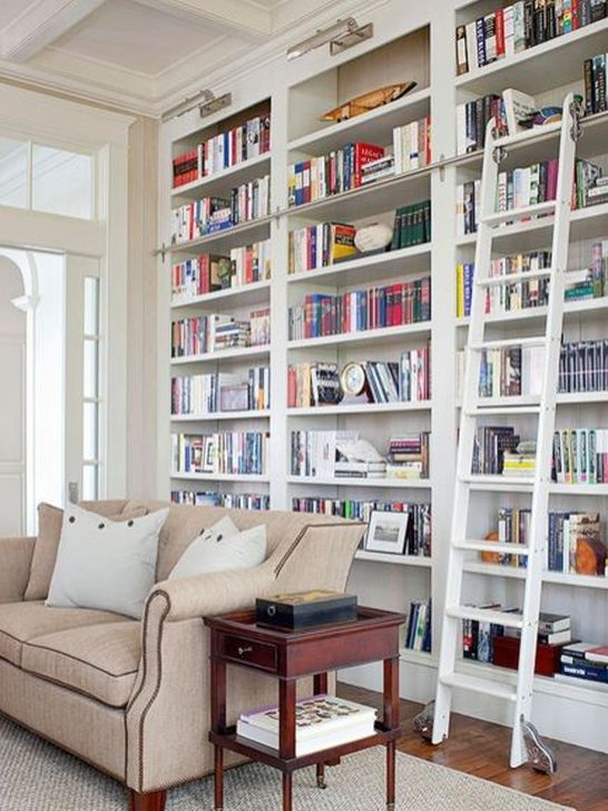 Stunning Bookshelves Design Ideas For Your Living Room Decoration 27