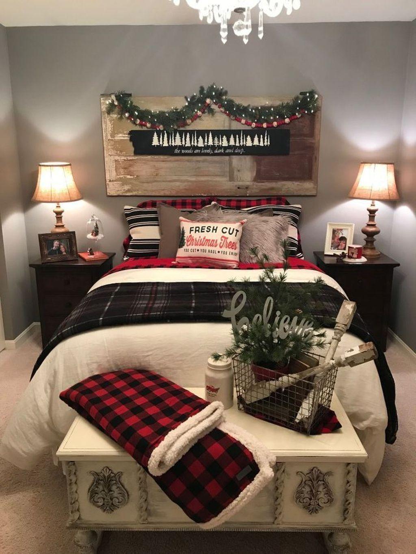 Amazing Farmhouse Style Christmas Bedroom Ideas 19