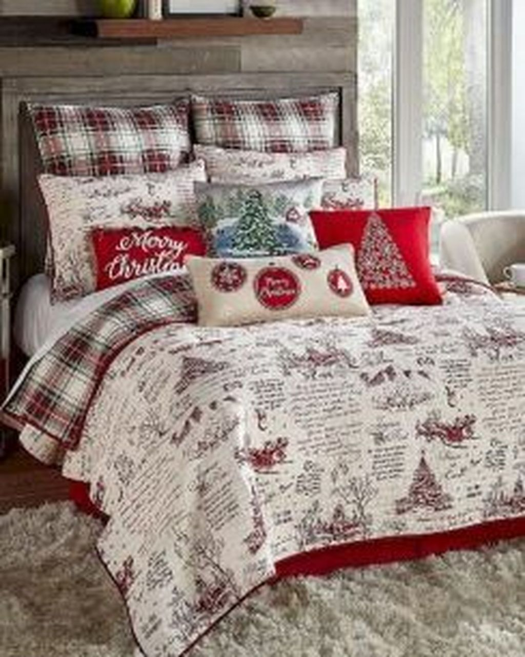 Amazing Farmhouse Style Christmas Bedroom Ideas 32