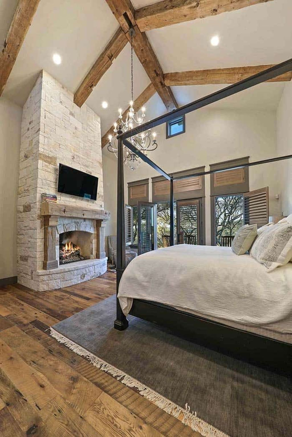 Awesome Bedroom Design With Fireplace Ideas Perfect For This Winter 26