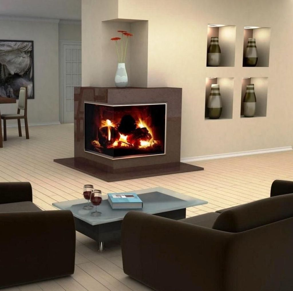 Beautiful Corner Fireplace Design Ideas For Your Living Room 23