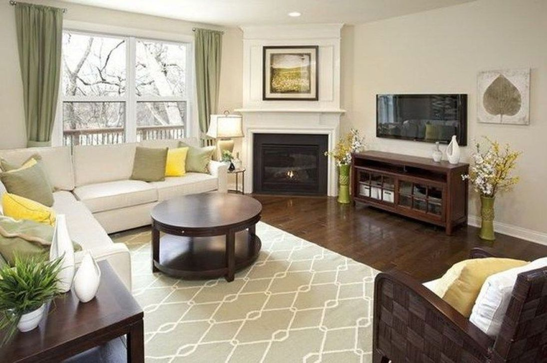 Beautiful Corner Fireplace Design Ideas For Your Living Room 29