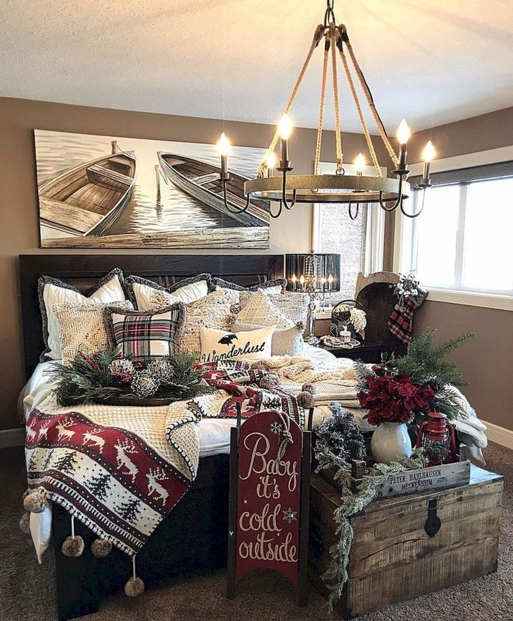 Beautiful Winter Bedroom Decor Ideas 32