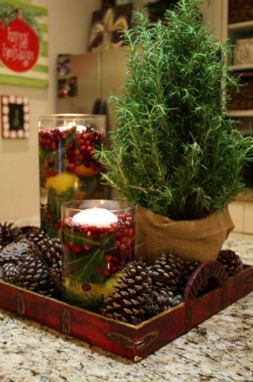 Popular Christmas Decor Ideas For Kitchen Island 12