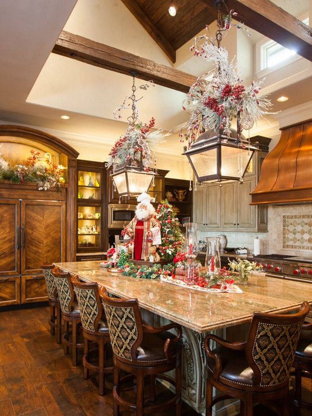 Popular Christmas Decor Ideas For Kitchen Island 23