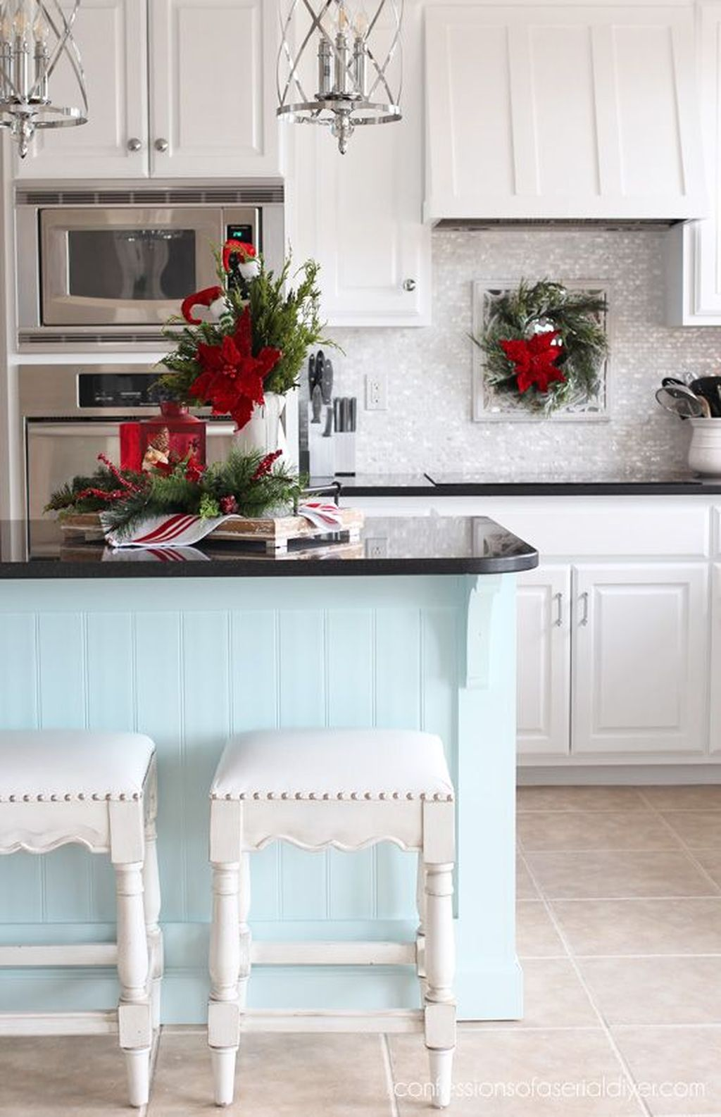 Popular Christmas Decor Ideas For Kitchen Island 30