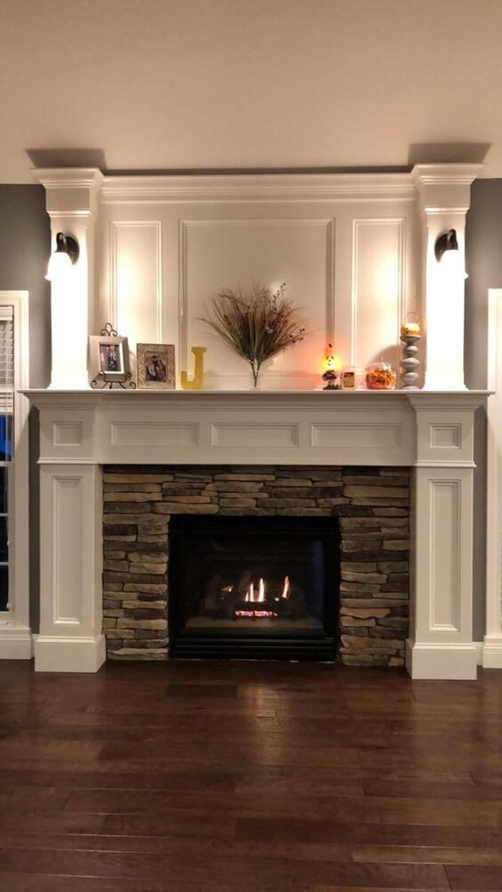 Stunning Fireplace Mantel Decor Ideas You Should Copy Now 06