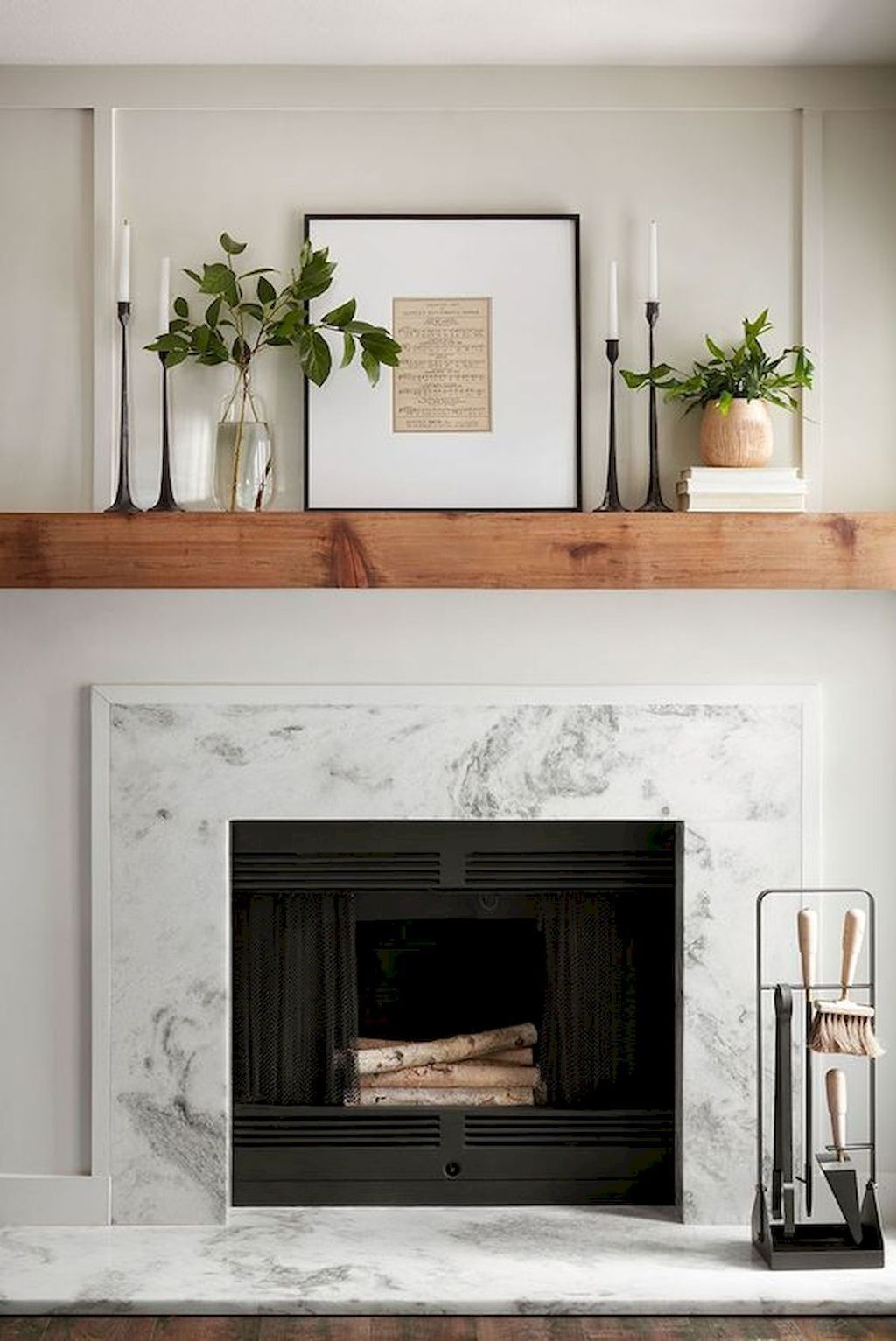 Stunning Fireplace Mantel Decor Ideas You Should Copy Now 18