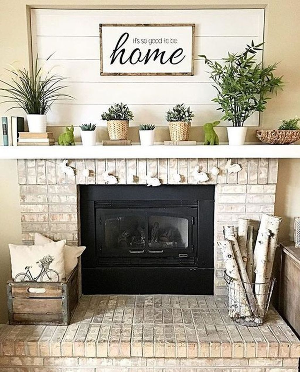 Stunning Fireplace Mantel Decor Ideas You Should Copy Now 19