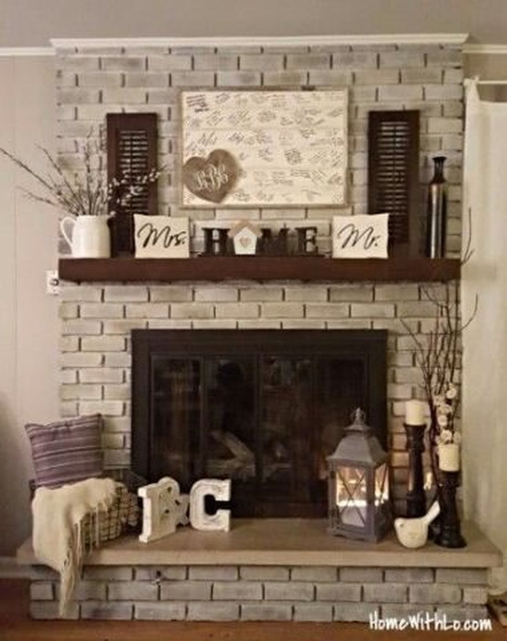 Stunning Fireplace Mantel Decor Ideas You Should Copy Now 24
