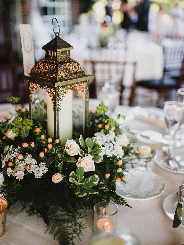 Stunning Winter Lantern Centerpieces For Wedding 04