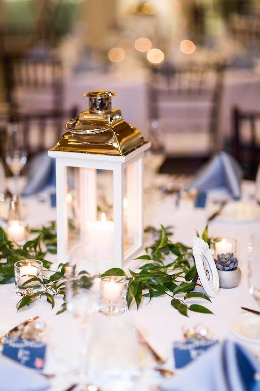 Stunning Winter Lantern Centerpieces For Wedding 16