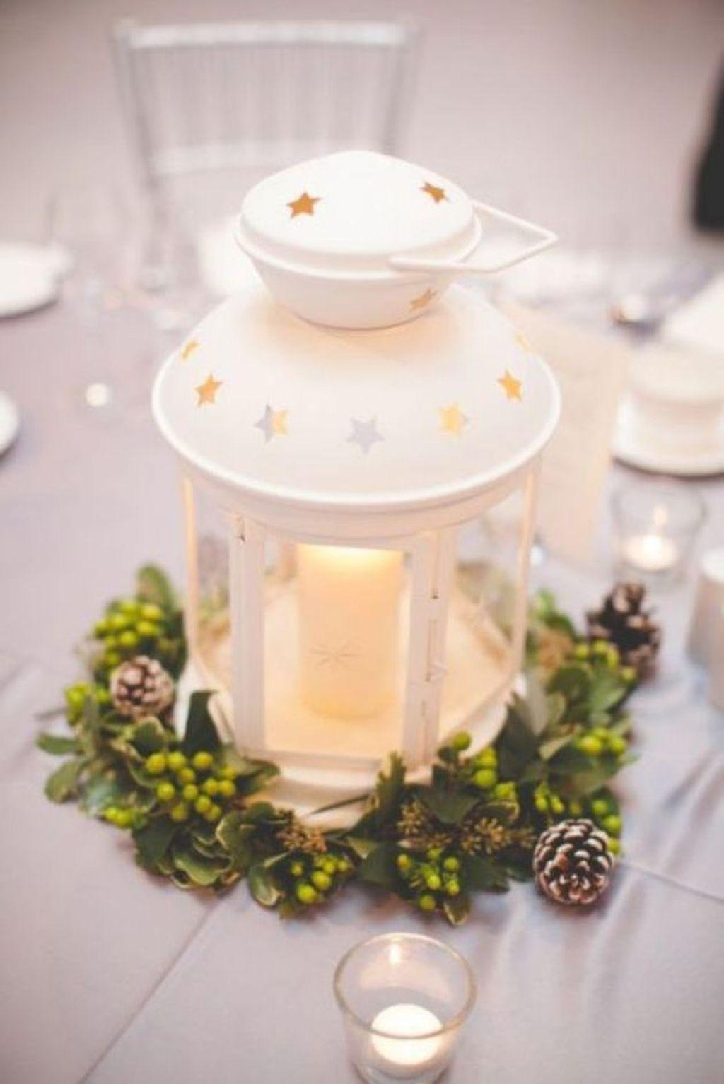 Stunning Winter Lantern Centerpieces For Wedding 24