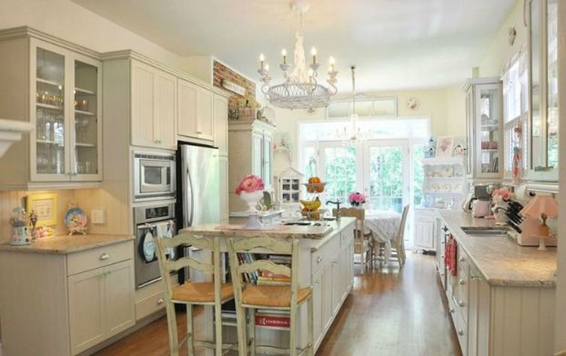 Lovely Romantic Kitchen Decorating Ideas 16