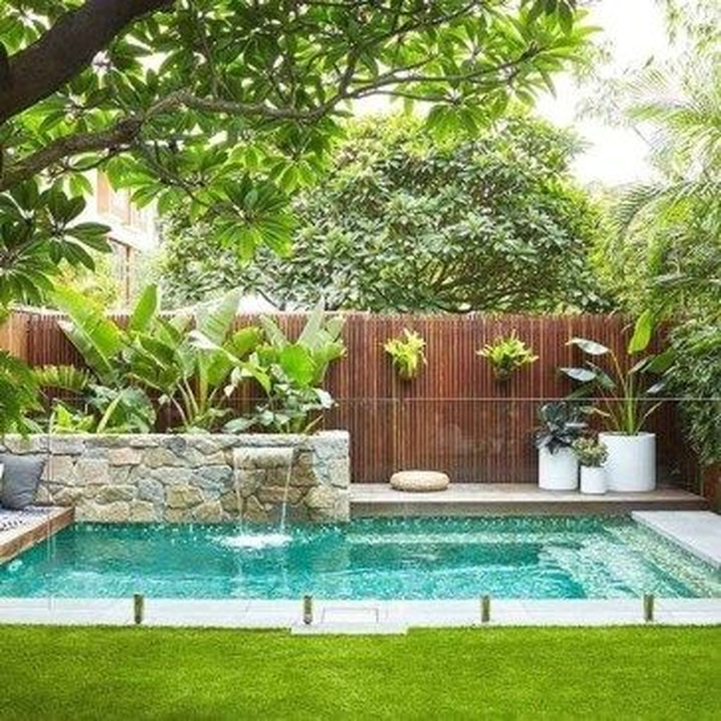 Beautiful Small Pool Backyard Landscaping Ideas Best For Spring And Summertime 15