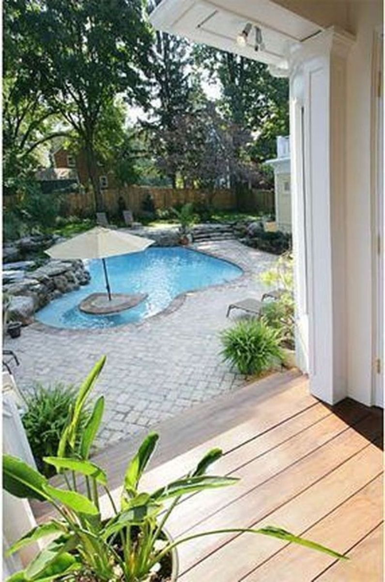 Beautiful Small Pool Backyard Landscaping Ideas Best For Spring And Summertime 16