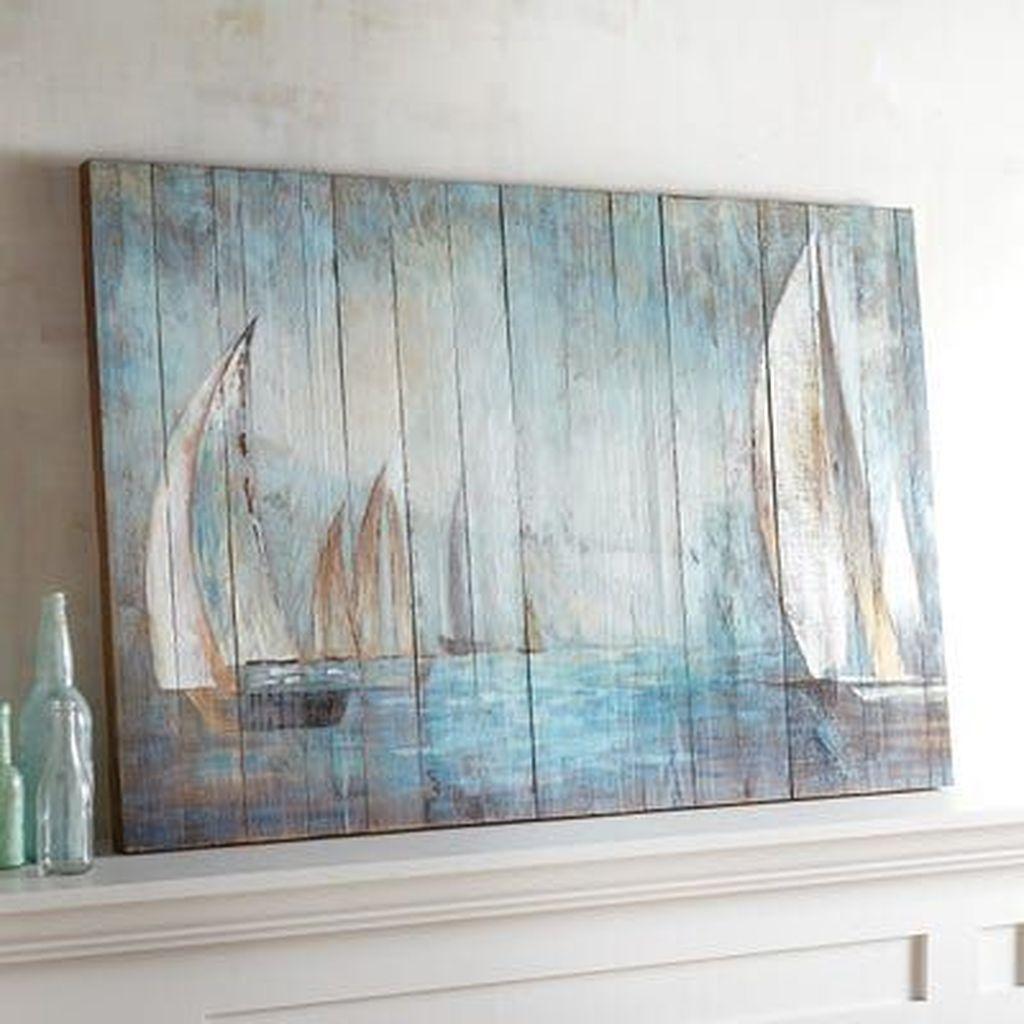 Inspiring Nautical Wall Decor Ideas For Living Room 19