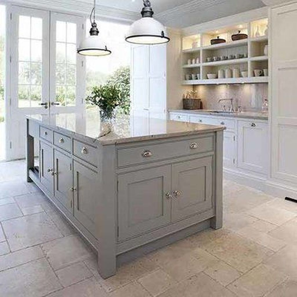 Stunning Grey And White Kitchen Color Ideas Match With Any Kitchen Design 04