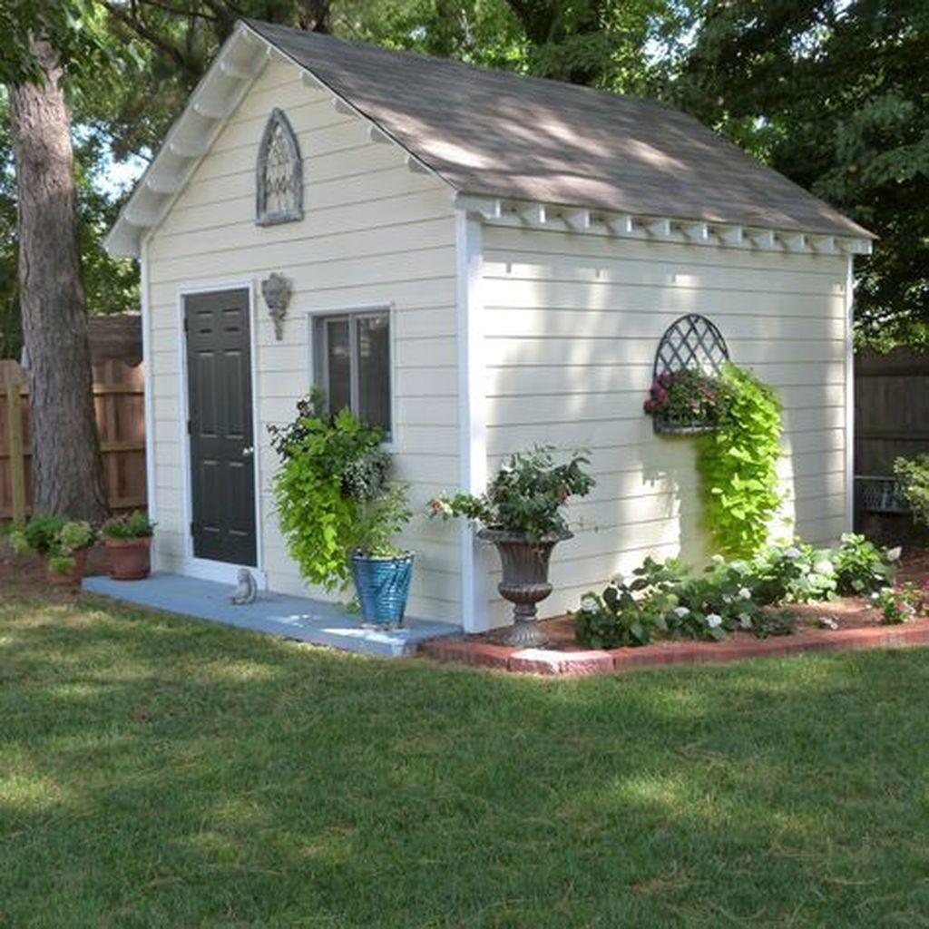 Awesome Backyard Shed Landscaping Ideas 01