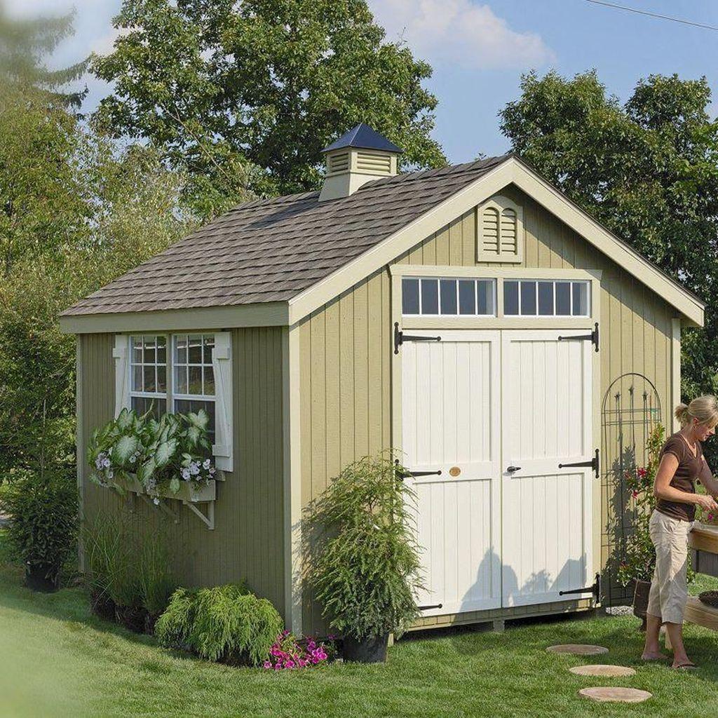 Awesome Backyard Shed Landscaping Ideas 06