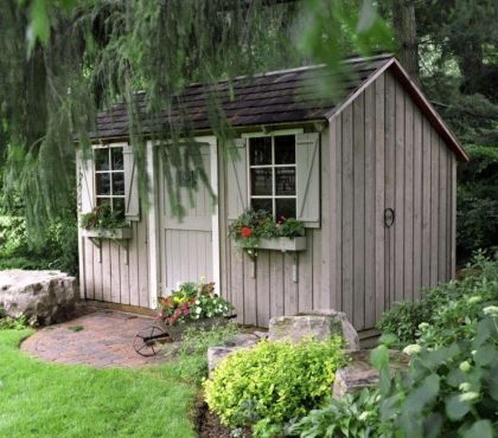 Awesome Backyard Shed Landscaping Ideas 18