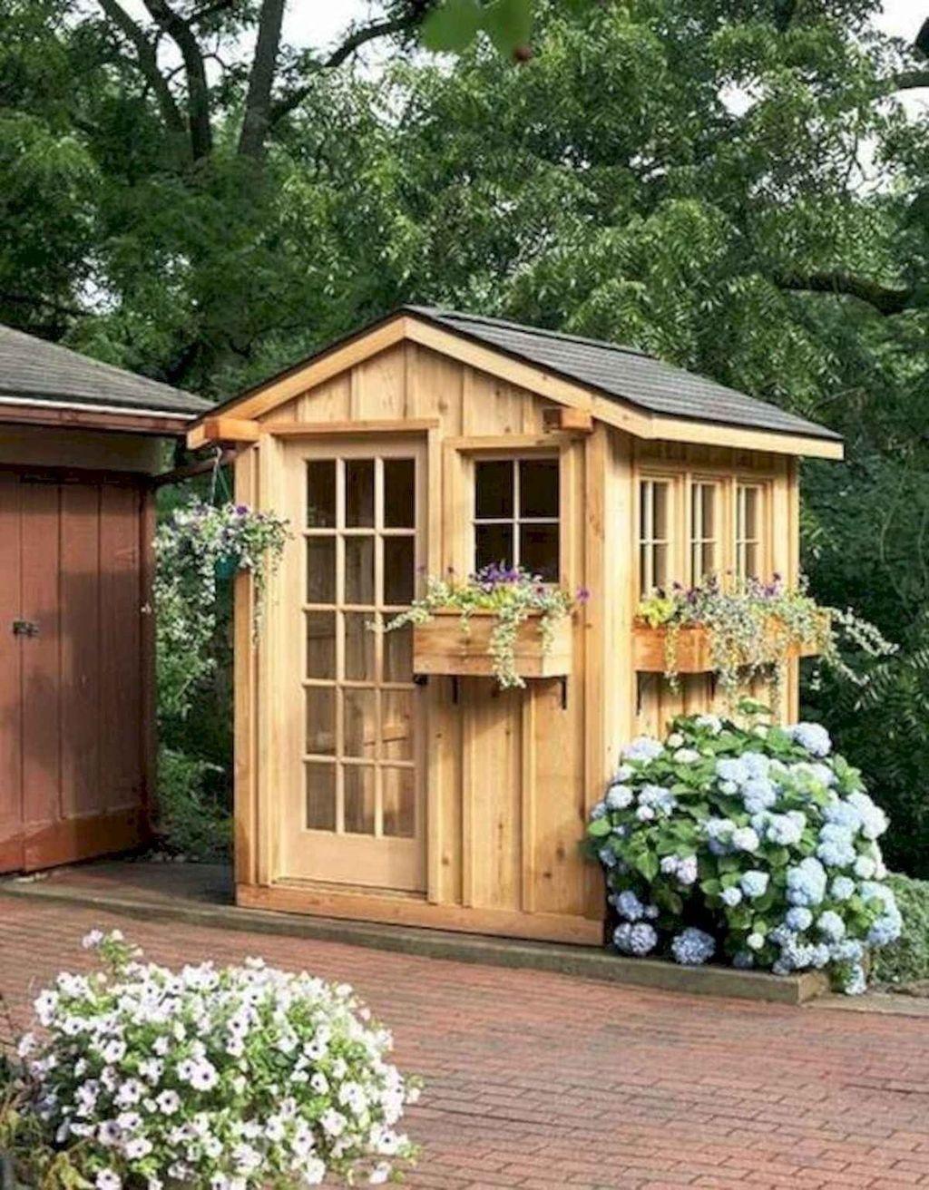 Awesome Backyard Shed Landscaping Ideas 19