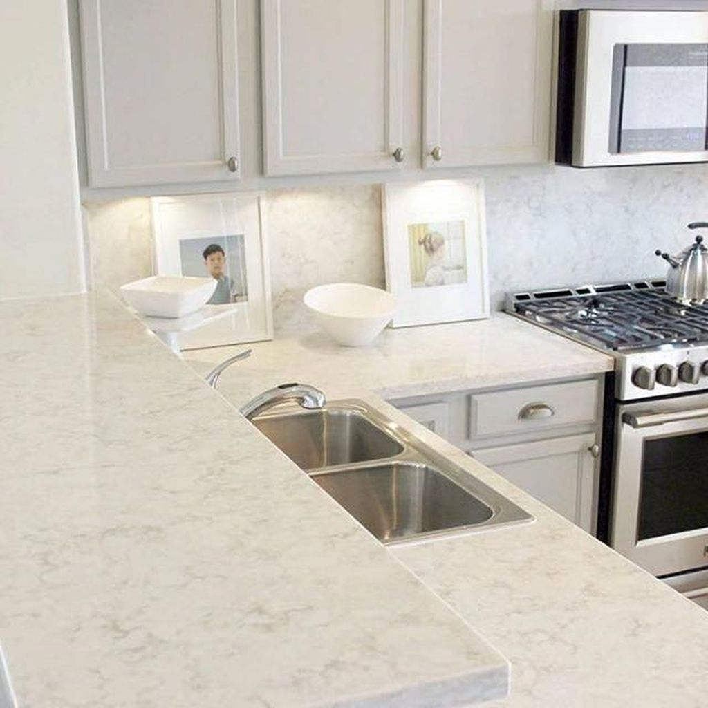 Beautiful Quartz Backsplash Kitchen Design Ideas 27